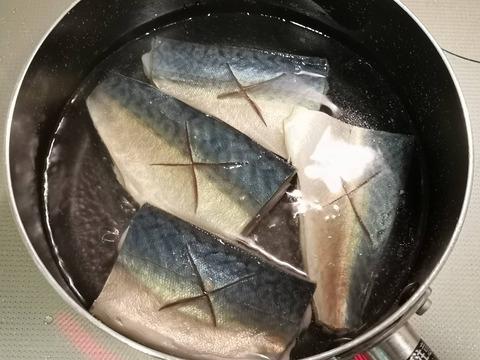 塩茹で鯖 (3)