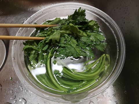 春菊のシャキシャキお浸し (2)