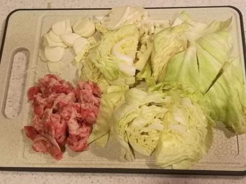 たっぷりキャベツと牛肉のトマト煮込み (2)