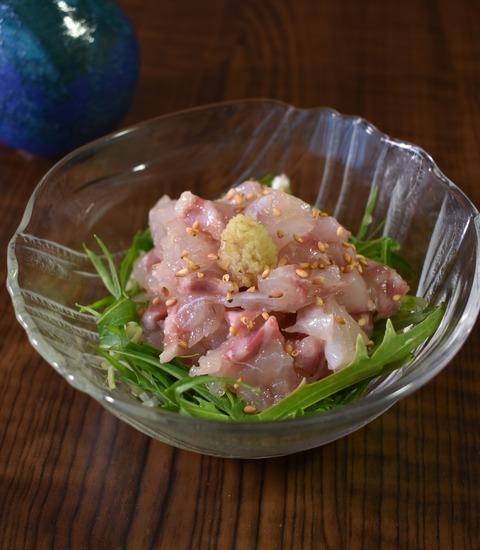 鯛のごま塩和え (1)
