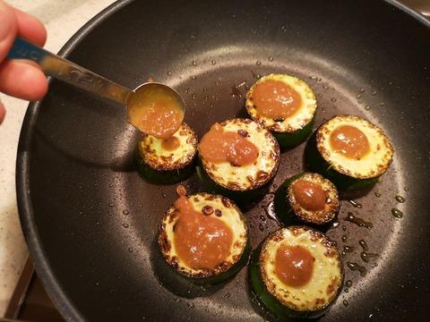 ズッキーニの味噌焼き (6)
