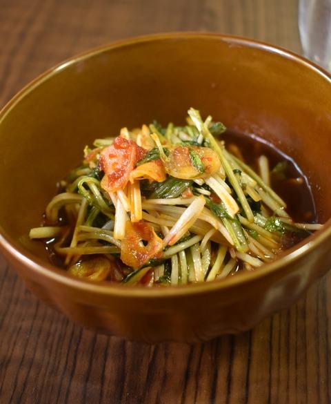 ピリ辛にんにく水菜 (1)