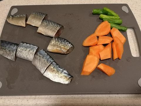 鯖のオイスターソース煮 (2)