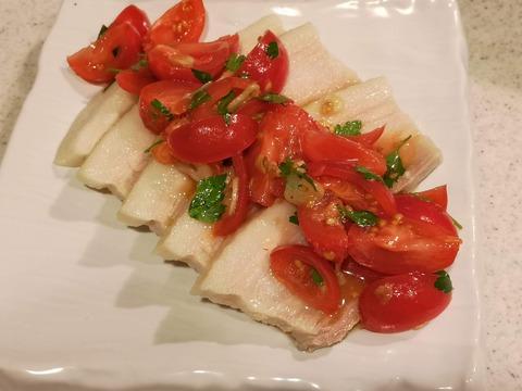 塩茹で豚バラのフレッシュトマトソース (8)