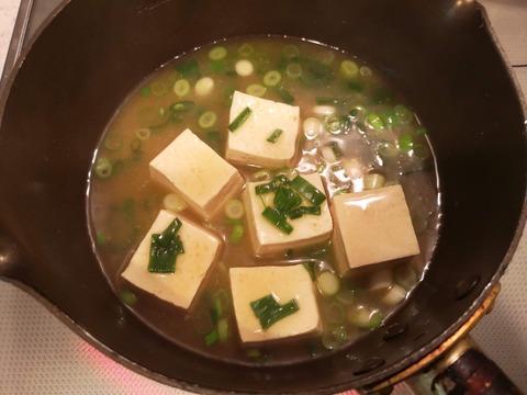 ラーメンスープで豆腐ご飯 (4)