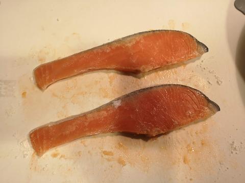 鮭の照焼き (2)