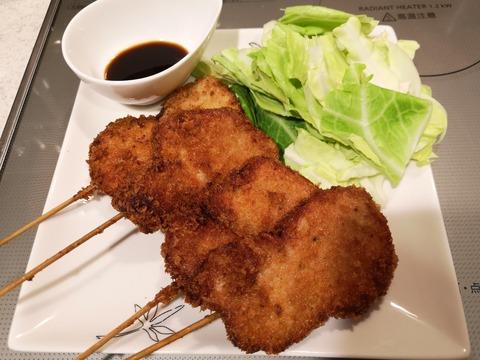 豚ヒレ肉の串カツ (10)