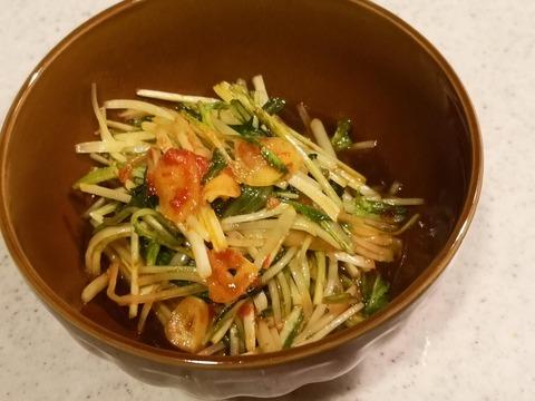 ピリ辛にんにく水菜 (6)