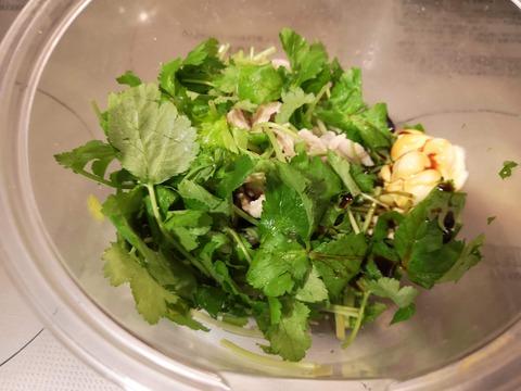 三つ葉と豚肉のマヨネーズ和え (6)