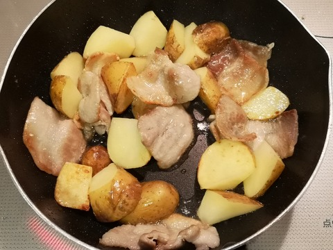 豚バラポテト焼き (4)