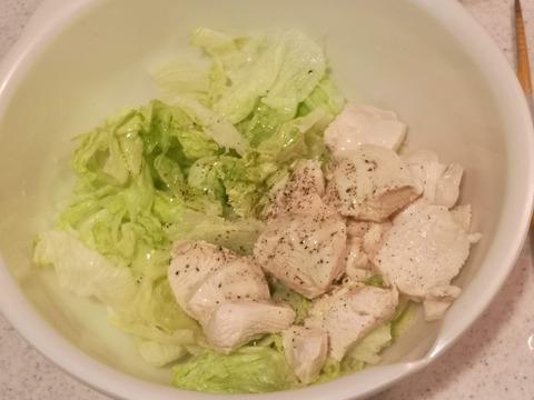 鶏むね肉の茹でサラダ (6)