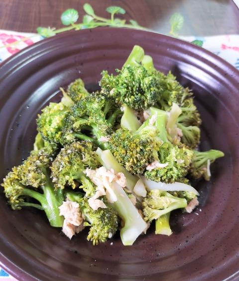 ブロッコリーとツナの塩炒め (1)