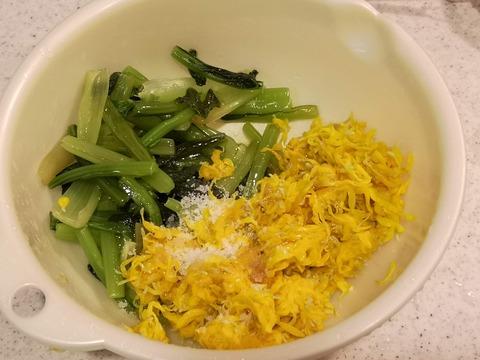 菊の花と小松菜のお浸し (8)