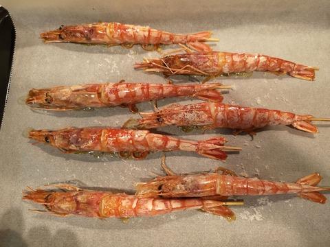 赤エビの塩焼き (6)