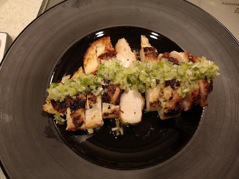 鶏ムネにくのソテーカボスソース (7)