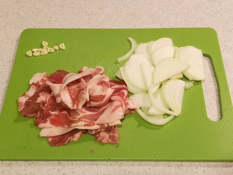 豚こま肉のトマト煮込み (2)
