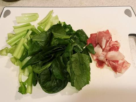 小松菜と豚肉のさっぱり炒め (2)
