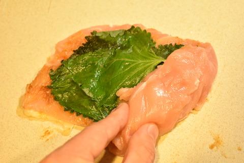 鶏むね肉の味噌ロール (5)