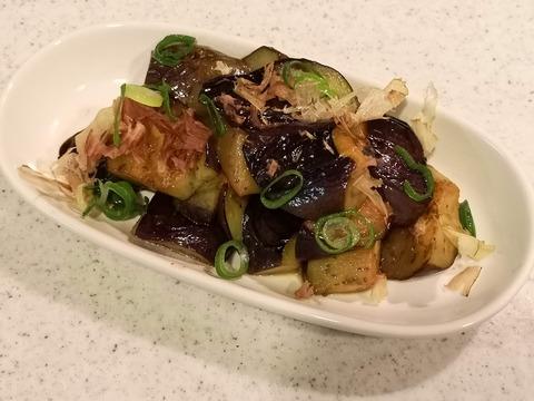 茄子のポン酢炒め (6)