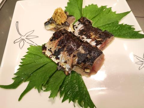 炙り燻製締め鯖 (8)