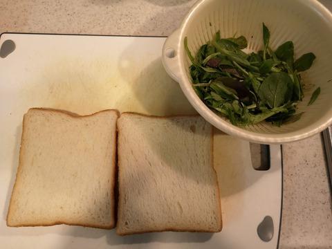 ベビーリーフサンドイッチ (2)
