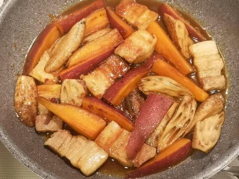 さつま芋と豚肉の炒め煮 (7)
