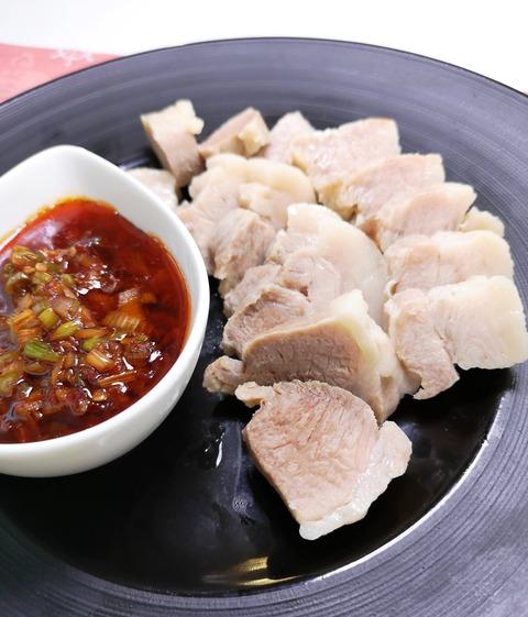 塩茹で豚ばら (1)