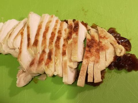 鶏むね肉の花びら丼 (6)