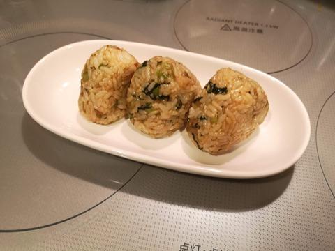 小松菜と豚肉の変わりおにぎり (8)
