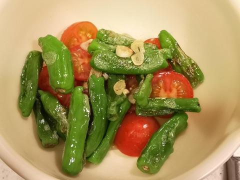 しし唐とミニトマトの温サラダ (5)