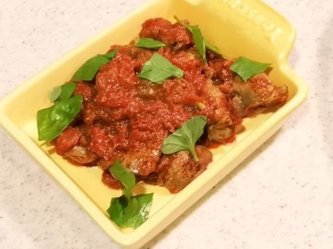 鶏レバーのトマト煮込み (9)
