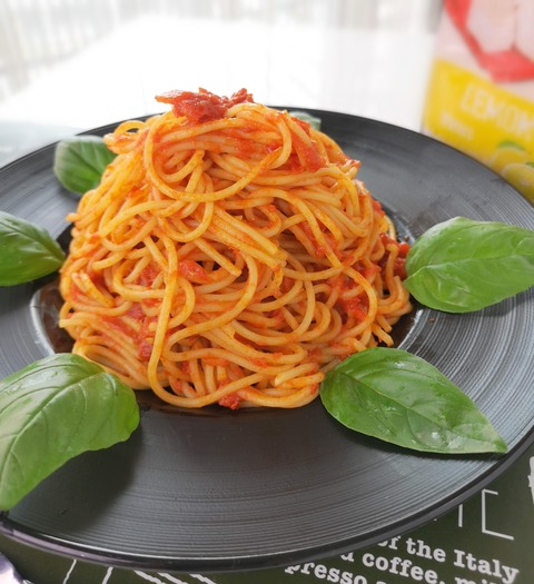 燻製トマトソースパスタ (1)
