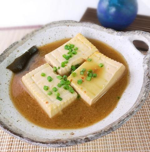 ピリ辛味噌豆腐 (1)