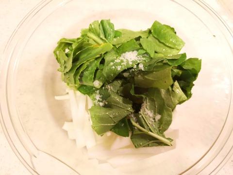 丸ごと大根と豚肉の塩炒め (3)