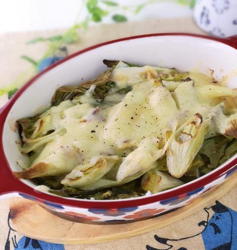 白ねぎのチーズ焼き (1)