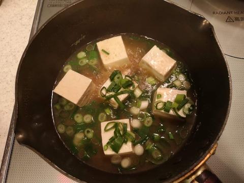 ラーメンスープで豆腐ご飯 (3)