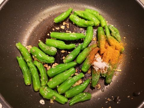 しし唐のカレー煮 (4)
