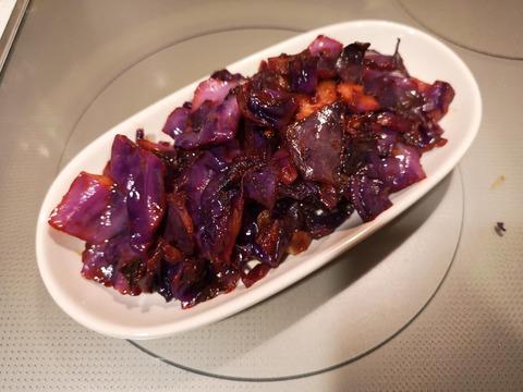 紫キャベツのケチャップ炒め (6)