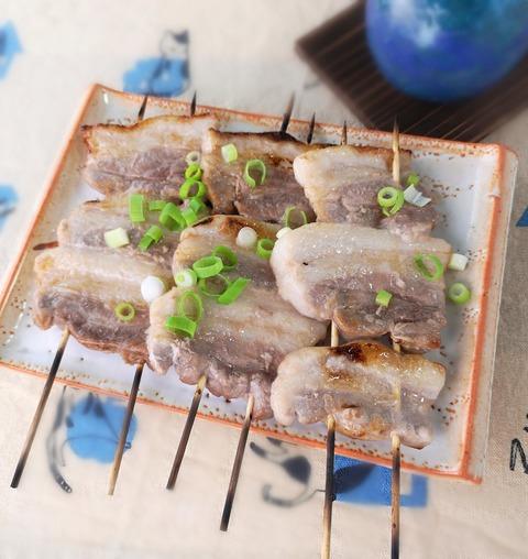 豚バラ肉の串焼き (1)