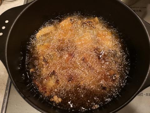 鮭の唐揚ピリ辛酢 (6)