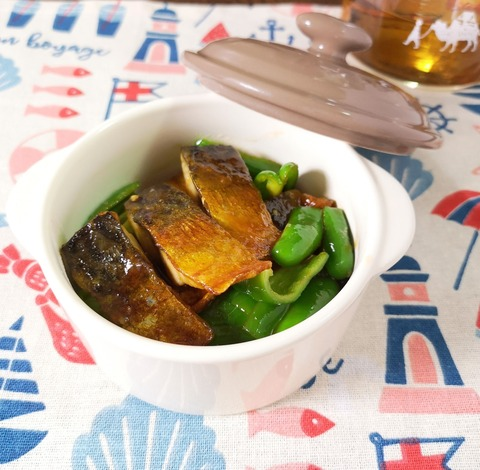 塩鯖のケチャップ炒め (1)