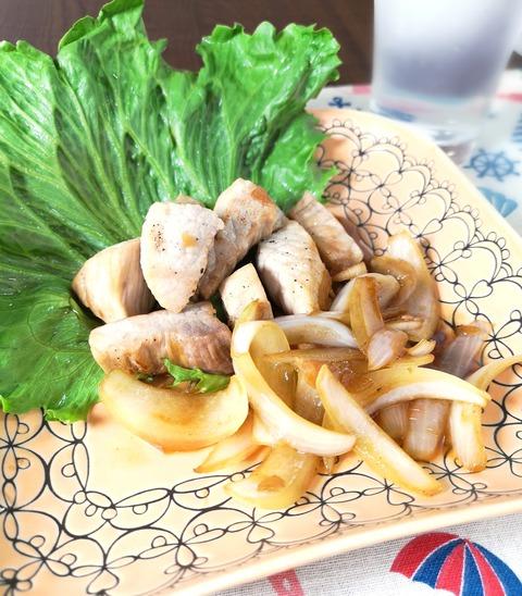 豚もも肉のサイコロステーキ (1)