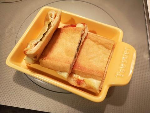 油揚げのサンドピザ (9)