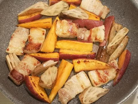 さつま芋と豚肉の炒め煮 (5)