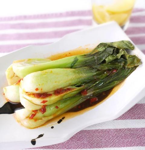 チンゲン菜のピリ辛ホイル焼き (1)