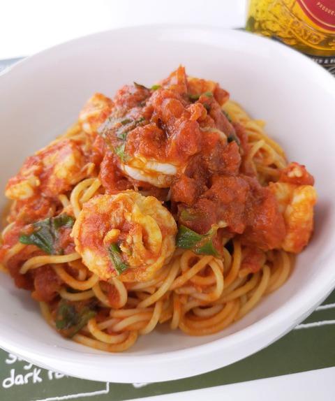 濃厚エビ出汁トマトパスタ (1)