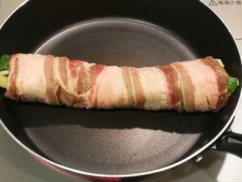 小松菜の牛肉縛り (5)