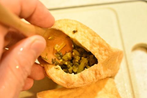 厚揚げの高菜詰め (3)