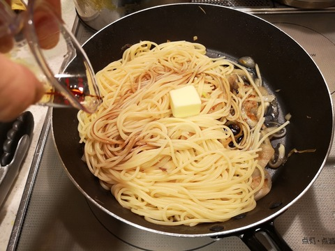 鯵のバター醤油パスタ (10)