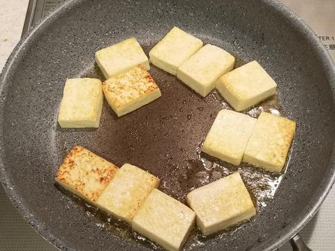 豆腐としめじのレモン炒め (4)